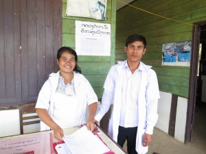 Tahoy Nurses in Clinic Laos